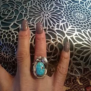 🌟Genuine Turquoise sterling silver ring🌟